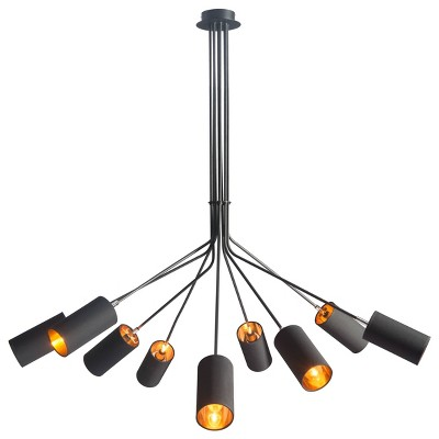 Bold Black and Gold 51  Ceiling Lamp - ZM Home