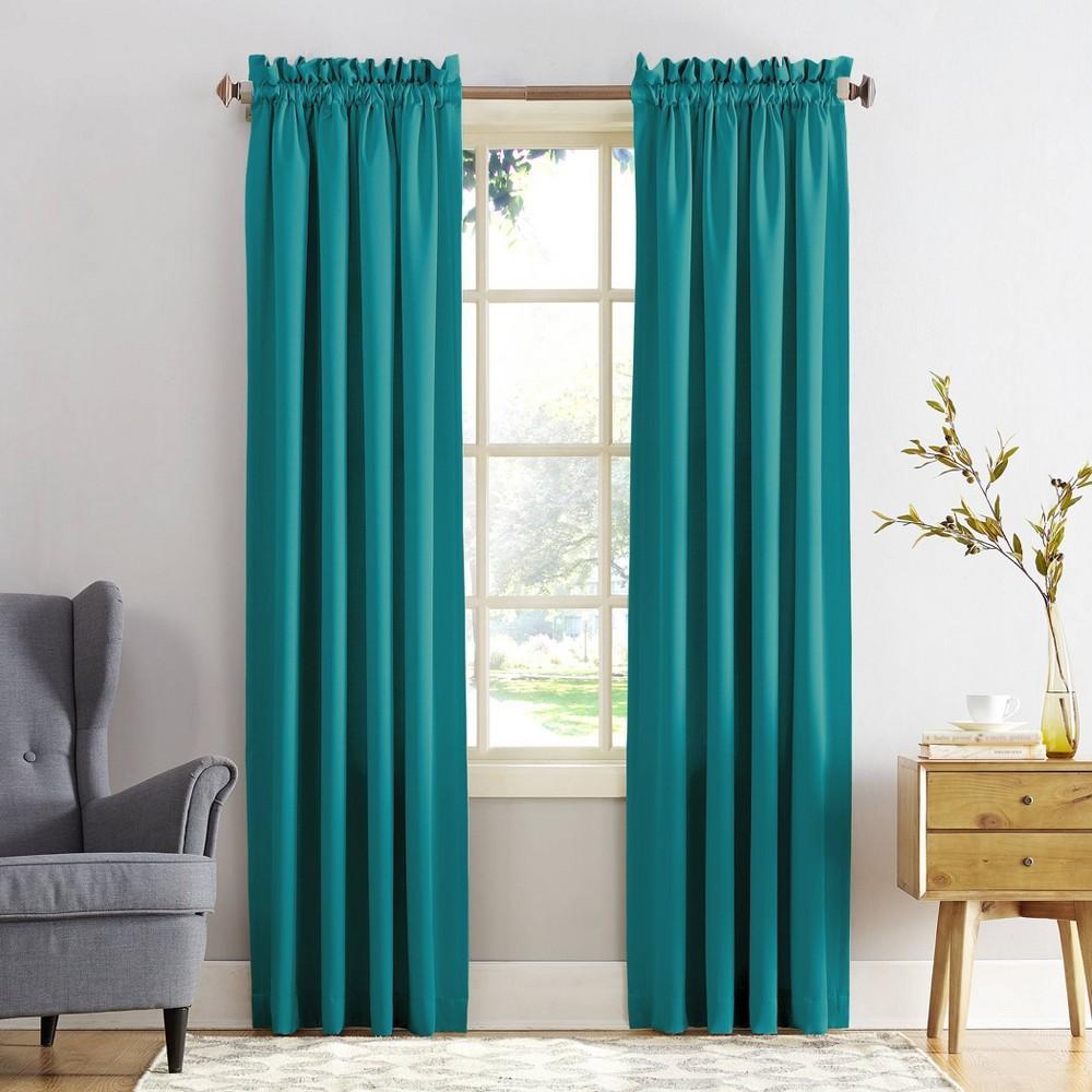 "Top Set of 2 63""x54"" Ren Room Darkening Rod Pocket Curtain Panel  - Sun Zero"