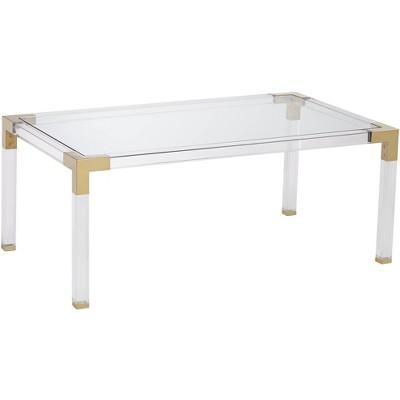 "55 Downing Street Hanna 42"" Wide Rectangular Clear Acrylic Coffee Table"