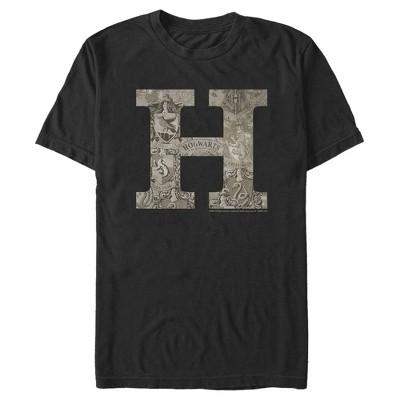 Men's Harry Potter Vintage Hogwarts Letter T-Shirt