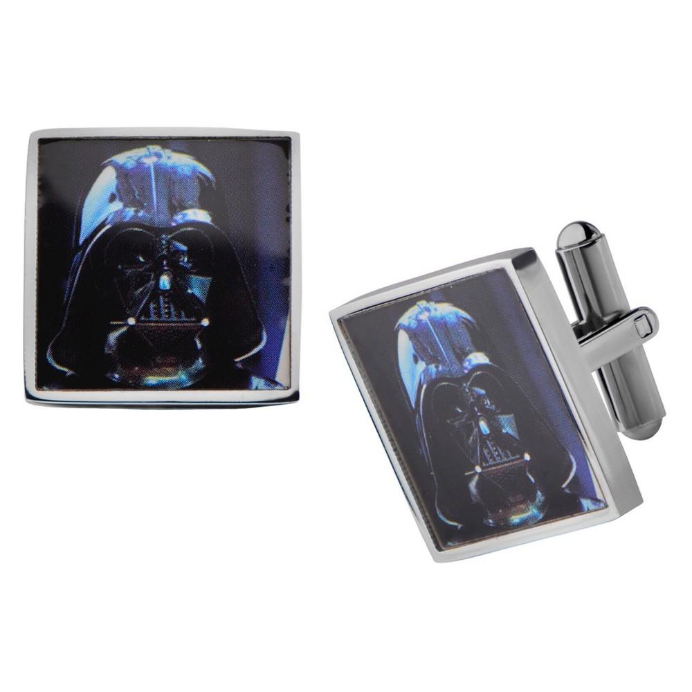 Men's Star Wars Darth Vader Graphic Stainless Steel Square Cufflinks