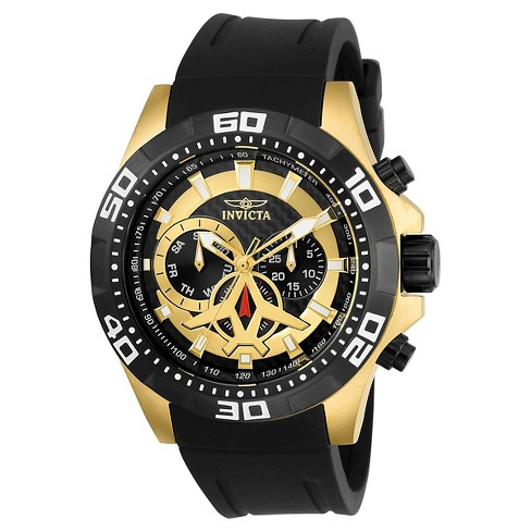 Men's Invicta 21739 Aviator Quartz Multifunction Black Dial Strap Watch - Black - image 1 of 1