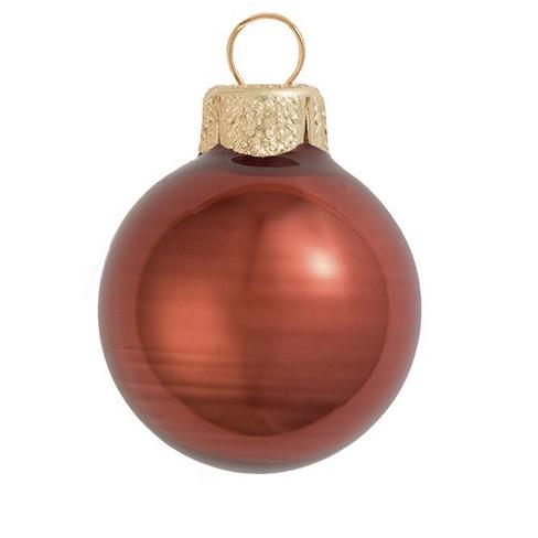 "Northlight 28ct Pearl Glass Ball Christmas Ornament Set 2"" - Chocolate Brown - image 1 of 1"