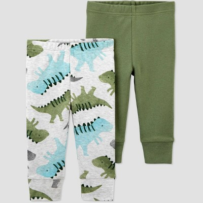 Baby Boys' 2pk Dino Pull-On Pants - Just One You® made by carter's Green 3M
