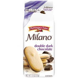 Milano Double Dark Chocolate Cookies - 7.5oz - Pepperidge Farm
