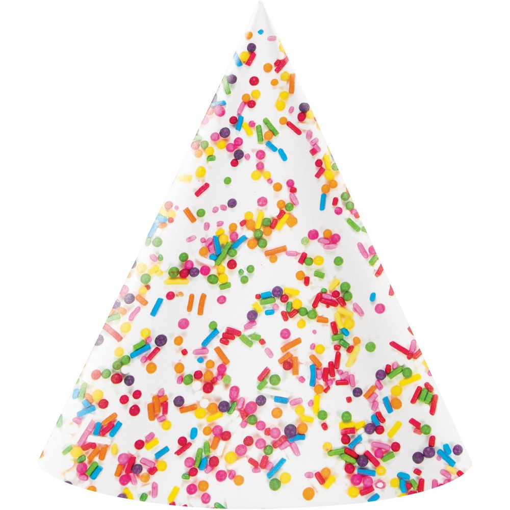 Image of 8ct Confetti Sprinkles Party Hat