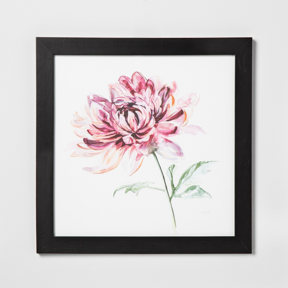 """Image of """"24"""""""" X 36"""""""" Pink Flower Wall Art with Black Wood Frame - Hearth & Hand with Magnolia"""""""