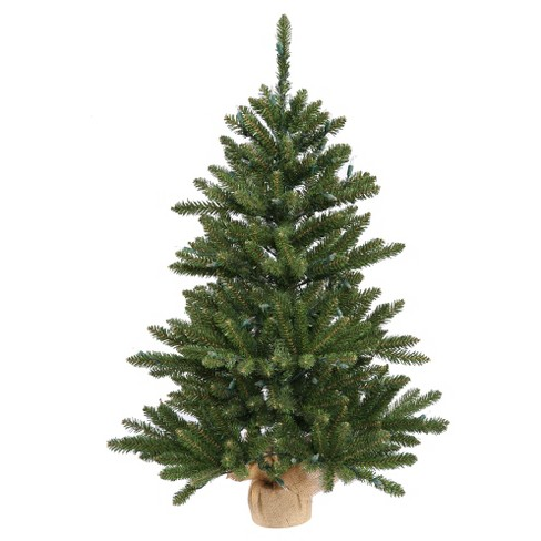 3.5 ft Unlit Anoka Pine Slim Artificial Christmas Tree in Burlap Base - image 1 of 2