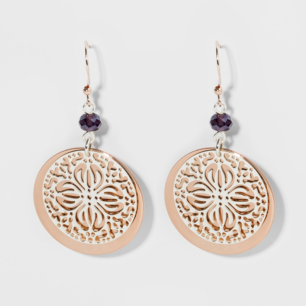 Coin, Filigree, and Glitzy Earrings - A New Day, Multi-Colored