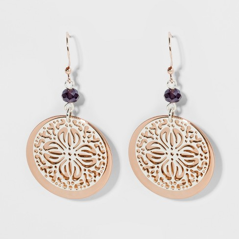 Coin Filigree And Glitzy Earrings A New Day