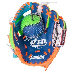 """Franklin Sports 9.5"""" Teeball Right Handed Thrower Recreational Glove with Ball"""