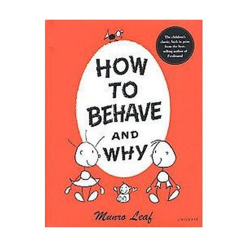 how to behave and why hardcover munro leaf target