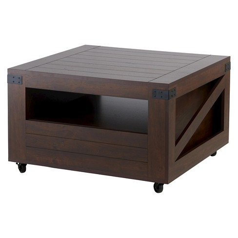 Carmelo Crate Inspired Coffee Table with Magazine Shelf Vintage Walnut - HOMES: Inside + Out - image 1 of 5