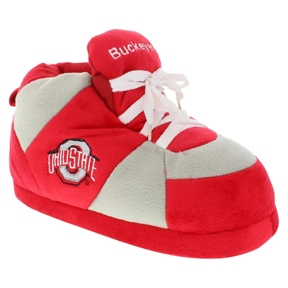 NCAA Ohio State Buckeyes Adult Comfy Feet Sneaker Slippers - Scarlet/Gray L, Adult Unisex, Multicolored