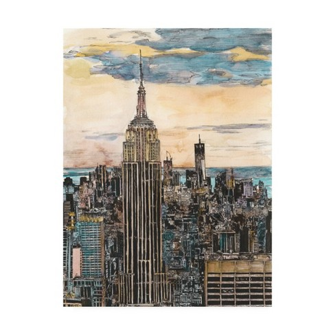 """18"""" x 24"""" Us Cityscape Nyc by Melissa Wang - Trademark Fine Art - image 1 of 4"""