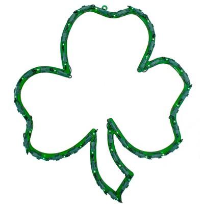 "Northlight 17"" Lighted St.Patrick's Day Irish Shamrock Window Silhouette Decoration"
