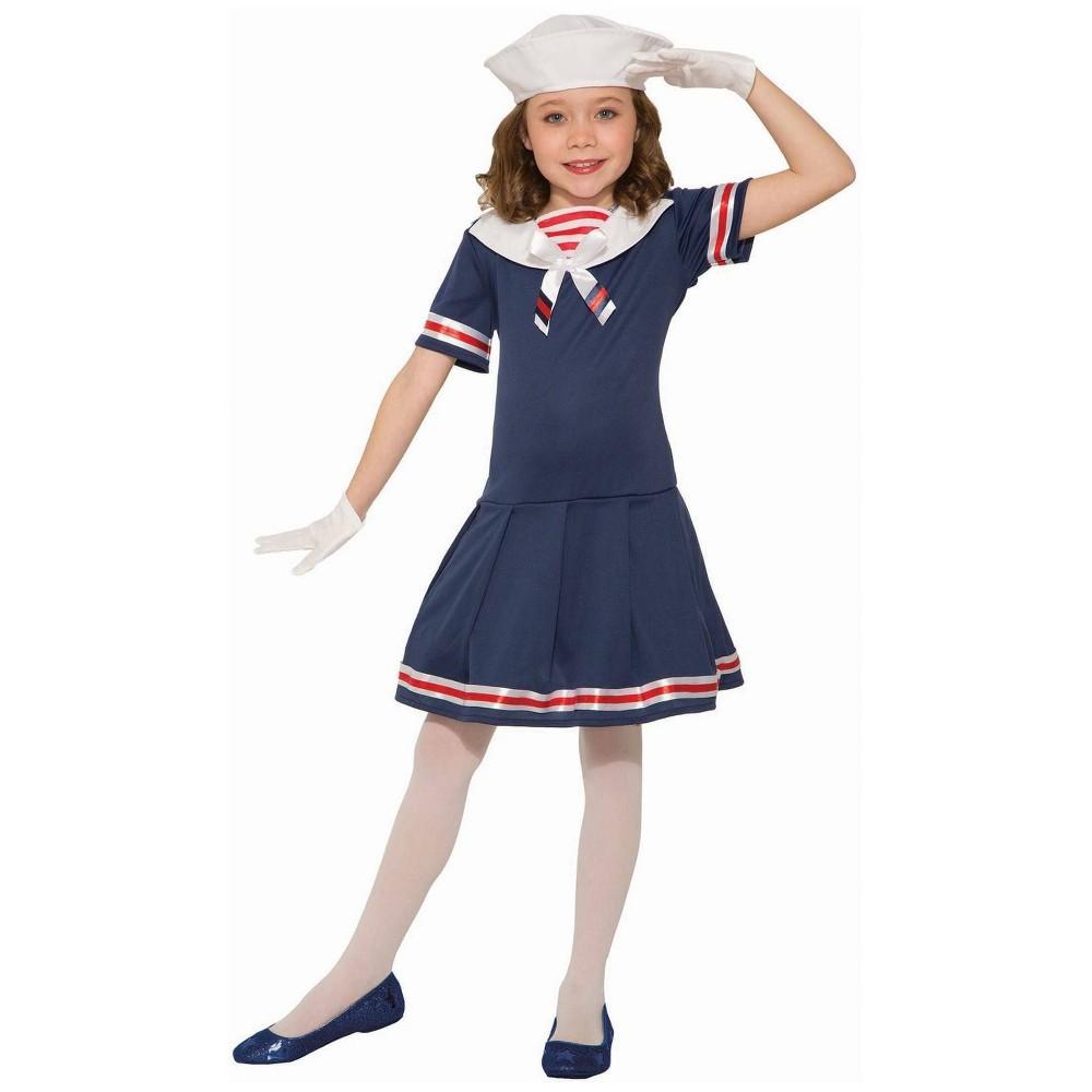 1940s Children's Clothing: Girls, Boys, Baby, Toddler Girls Sailor Halloween Costume L Size Large Multicolored $25.00 AT vintagedancer.com