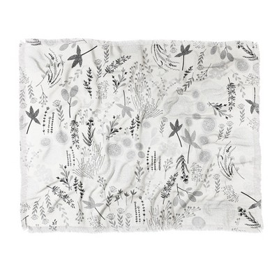 "60""X50"" Iveta Abolina Floral Goodness Ii Throw Blanket Gray - Deny Designs"