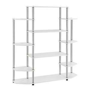 "52.5"" Wall Unit Bookshelf White - Breighton Home"