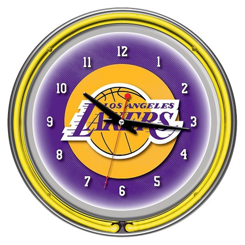 Los Angeles Lakers Team Logo Wall Clock - image 1 of 1