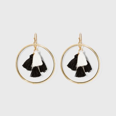 f391f5d9f3157 SUGARFIX by BaubleBar Multi-Tassel Hoop Earrings