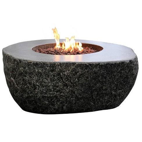 """Fiery Rock 50"""" Outdoor Fire Pit Propane Table Backyard Patio Heater - Elementi - image 1 of 3"""