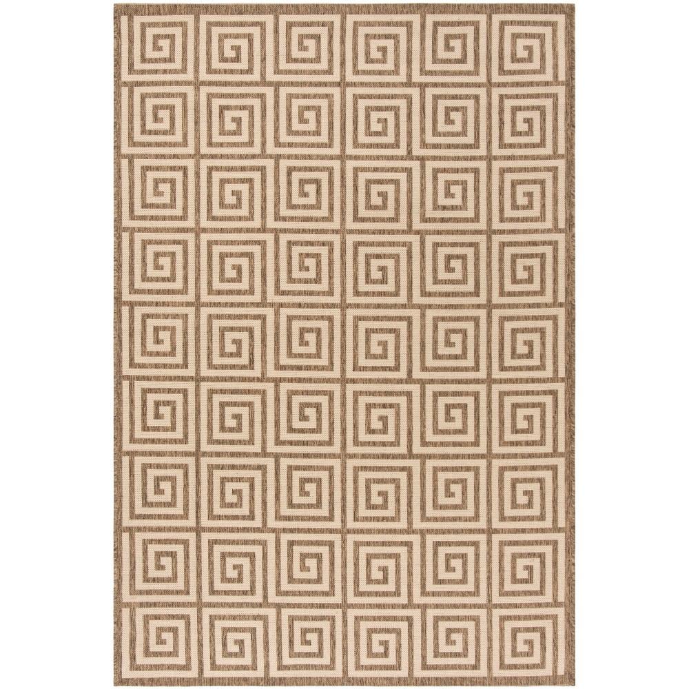 5 1 X7 6 Geometric Loomed Area Rug Cream Safavieh