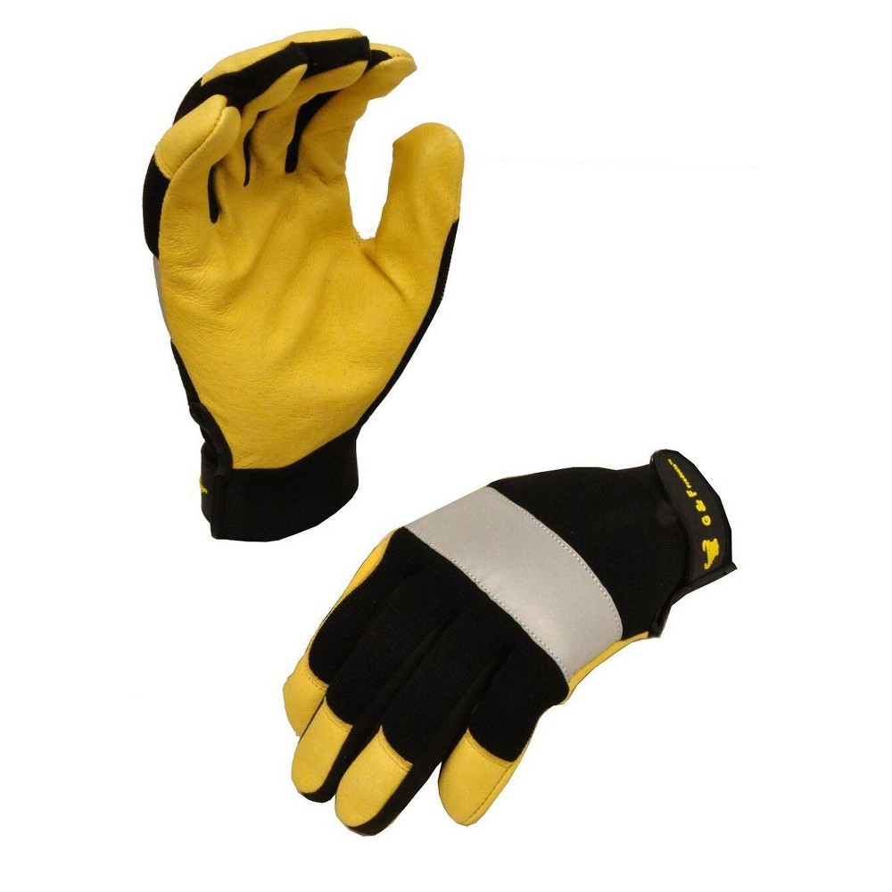 Image of Dark Owl High Visibility Reflective Performance Mechanics Work Gloves - Large - Yellow - G & F