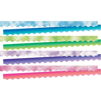 4pk 13ea Tie-Dye and Ombre Double-Sided Border 52pc - Barker Creek