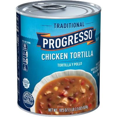 Progresso Gluten Free Traditional Tortilla Y Pollo Chicken Tortilla Soup - 18.5oz