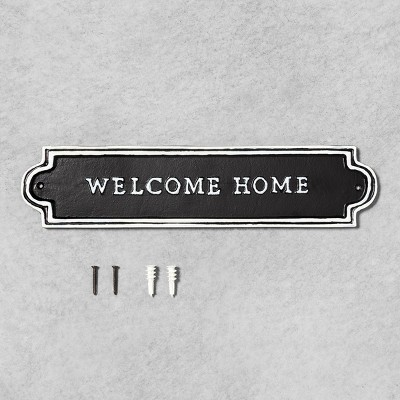 Welcome Home Sign Black - Hearth & Hand™ with Magnolia