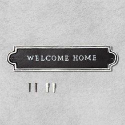 Welcome Home Wall Sign Black - Hearth & Hand™ with Magnolia