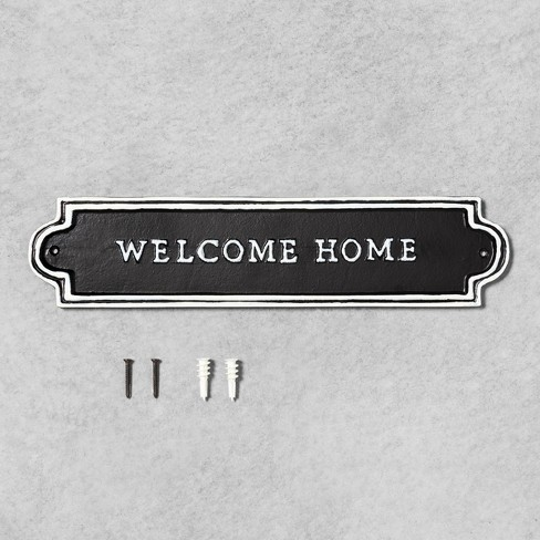 Welcome Home Sign Black - Hearth & Hand™ with Magnolia - image 1 of 2