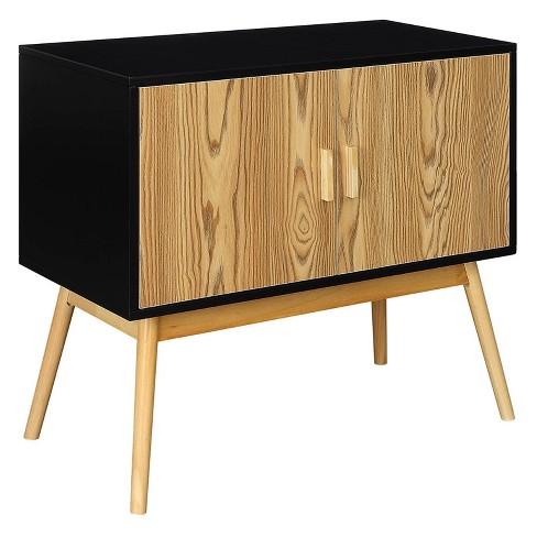Johar Furniture Oslo Storage Console Wood Black - image 1 of 5