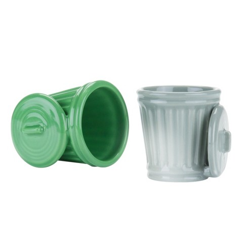 True Fabrications Ceramic Shot Glasses 2oz Green/Silver - Set of 2 - image 1 of 3