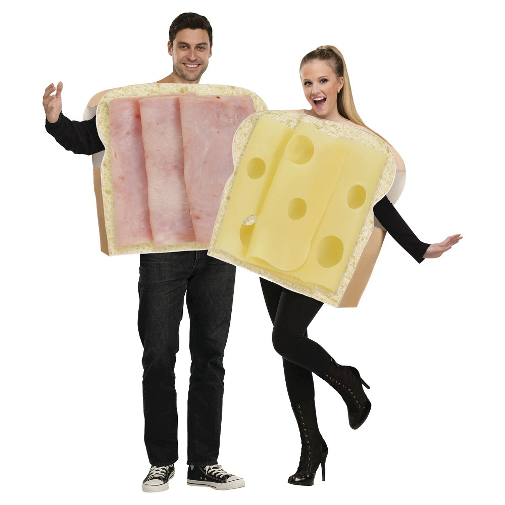 Adult Ham And Swiss Couples Costumes One Size (Includes 2 Costumes), Adult Unisex, Tan