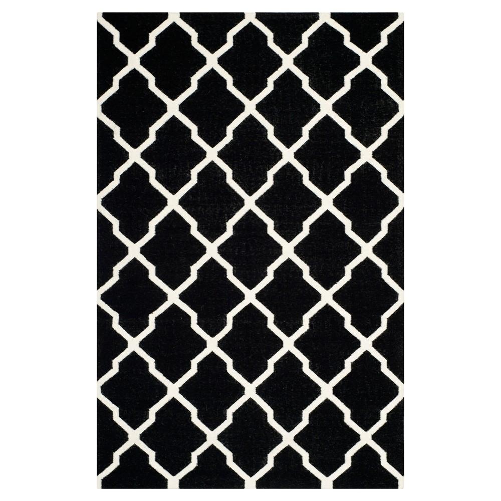 Cheap Taza Dhurry Rug - Black Ivory - (4x6) - Safavieh