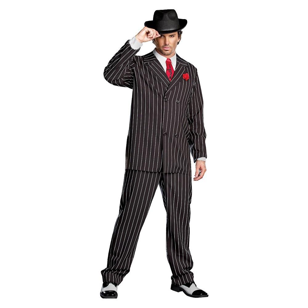 Men's Gangsta Costume - Medium, Black