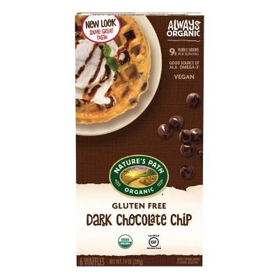 Nature's Path Gluten Free Organic Vegan Dark Chocolate Chip Frozen Waffles - 7.4oz