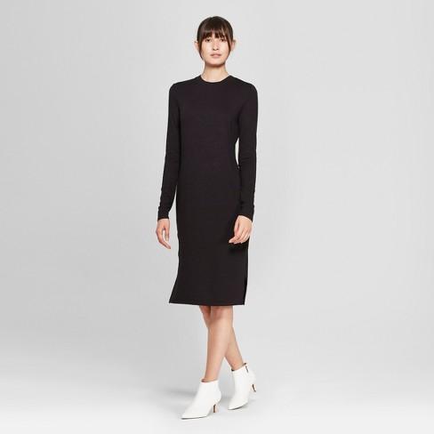 53c066aa6fd2 Women s Long Sleeve Knit Midi Dress - Prologue™   Target