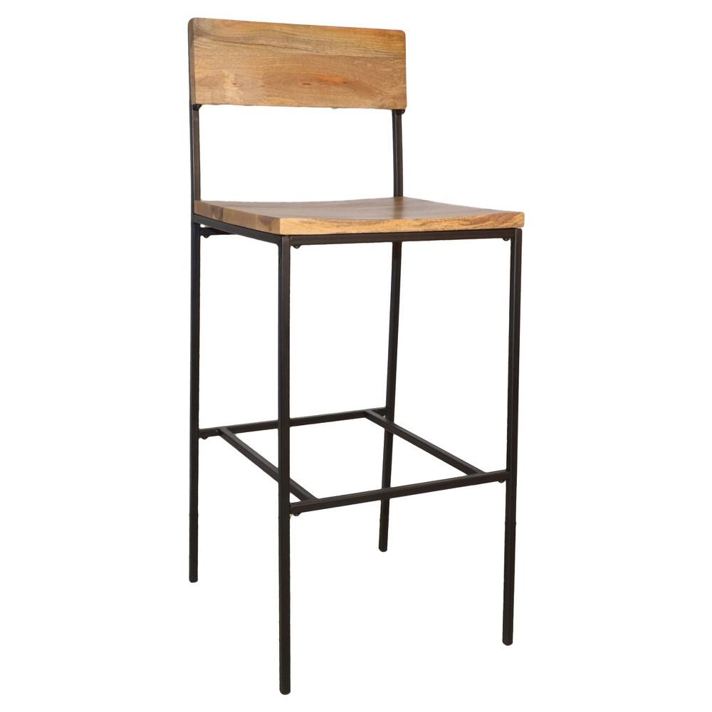 30 Elmsley Barstool - Natural/Black - Carolina Chair and Table