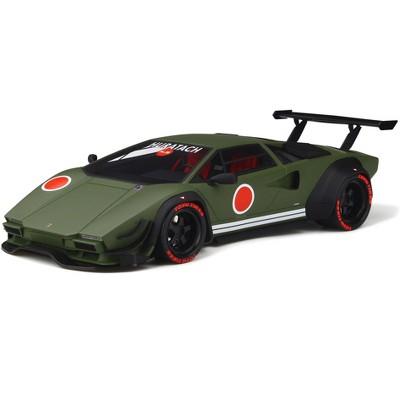 Lamborghini Khyzyl Saleem Huratach Matt Green Limited Edition to 999 pieces Worldwide 1/18 Model Car by GT Spirit