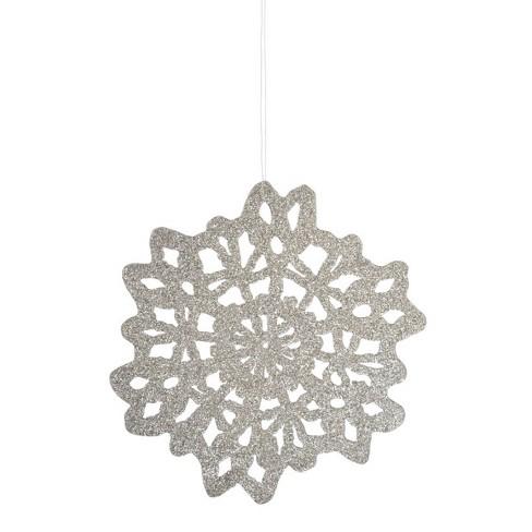 "Ganz 4.25"" Glittered Snowflake Christmas Ornament - White - image 1 of 1"