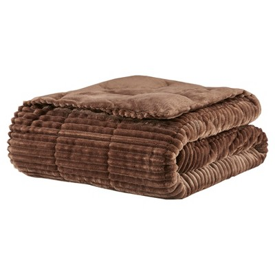 Brown Solid Throw Blankets ( 60x70 )