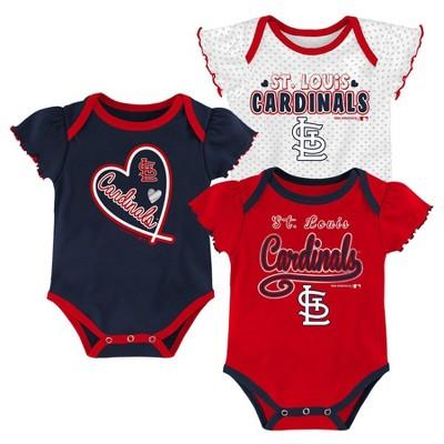 MLB St. Louis Cardinals Girls' Bodysuit - 3-6M