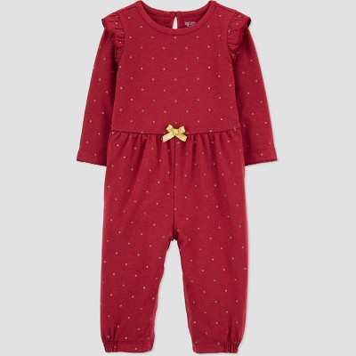 Baby Girls' Dot Romper - Just One You® made by carter's Maroon 3M