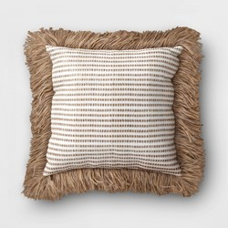 Outdoor Decorative Throw Pillow White/Brown - Opalhouse™