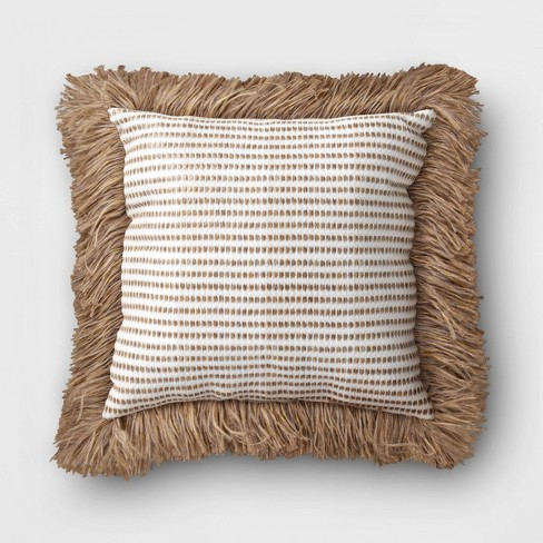 Outdoor Decorative Throw Pillow White/Brown - Opalhouse™ - image 1 of 3