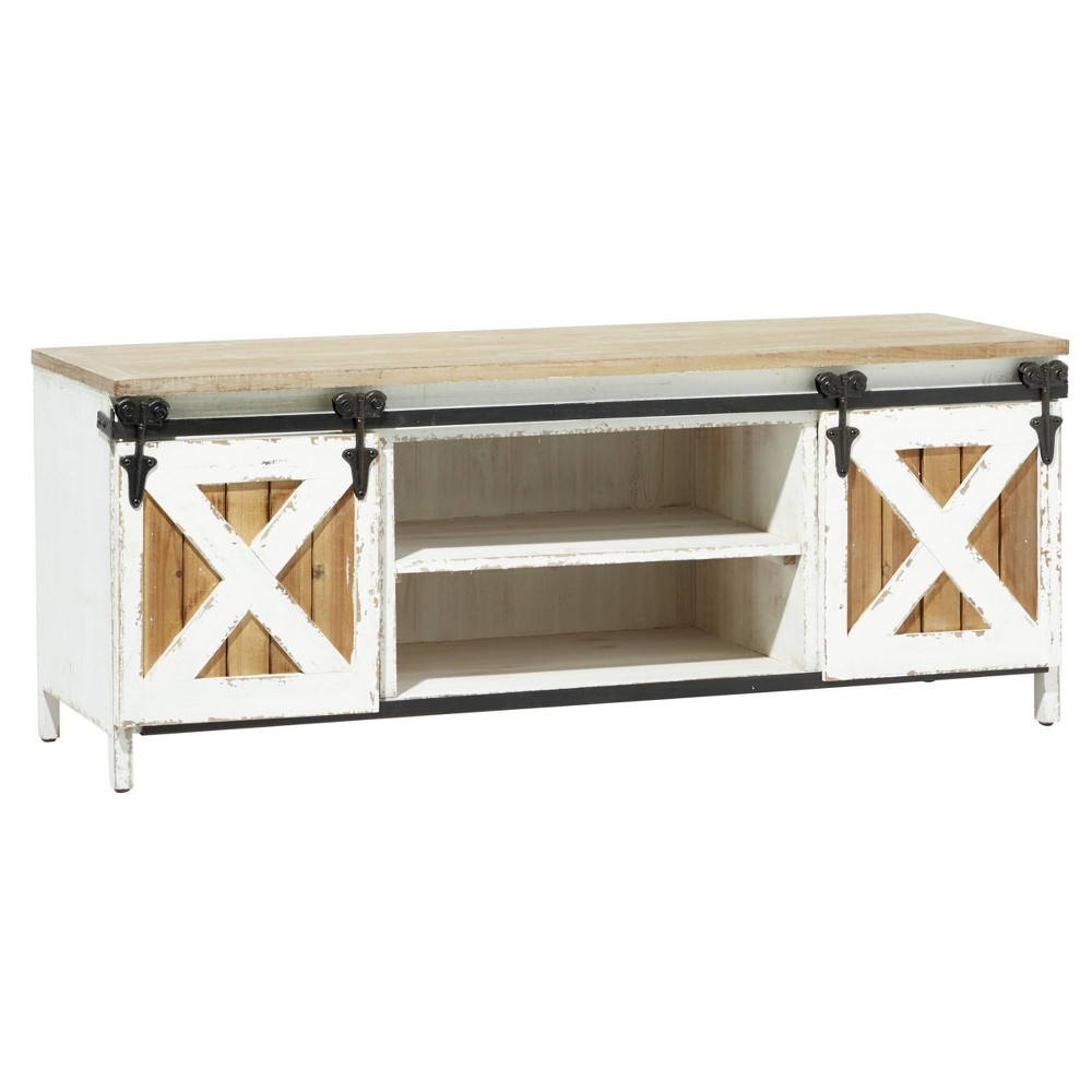 Farmhouse Wooden Bench Cabinet White Olivia 38 May
