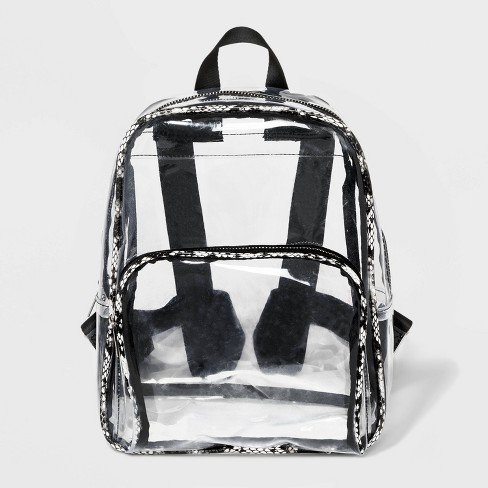 Vinyl Backpack - Wild Fable™ Medium Clear - image 1 of 3